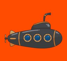 Submarine Cartoon Kids Tee