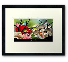 Green garden Framed Print