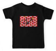Bike Red Polka Dot (Big - Highlight) Kids Tee