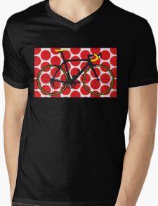 Bike Red Polka Dot (Big - Highlight) Mens V-Neck T-Shirt