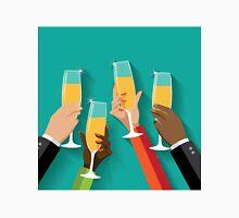 Champagne Toast Flat design Unisex T-Shirt