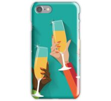 Champagne Toast Flat design iPhone Case/Skin
