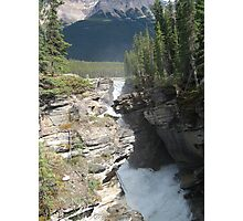 Mountains, River, Waterfall, Jasper National Park, Canada Photographic Print
