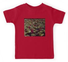 A Profusion of Cardinal Red Waterlilies Kids Tee