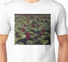 A Profusion of Cardinal Red Waterlilies Unisex T-Shirt