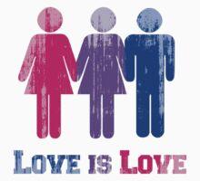 BISEXUAL LOVE IS LOVE by lgbtdesigns