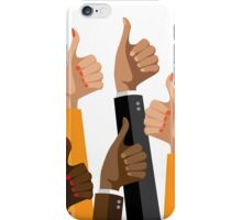 Flat design multicultural group thumbs up iPhone Case/Skin