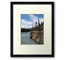 Mountains, River, Jasper National Park, Canada Framed Print