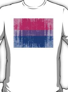 BISEXUAL PRIDE FLAG DISTRESSED T-Shirt