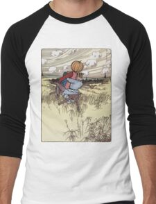 John R. Neill - The Scarecrow And Jack Pumpkinhead Riding The Saw-Horse. Child portrait: cute baby, kid, children, pretty angel, kids, lovely family, boys and girls, boy and girl, mom, childhood Men's Baseball ¾ T-Shirt
