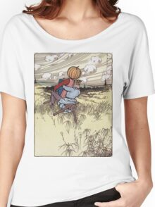 John R. Neill - The Scarecrow And Jack Pumpkinhead Riding The Saw-Horse. Child portrait: cute baby, kid, children, pretty angel, kids, lovely family, boys and girls, boy and girl, mom, childhood Women's Relaxed Fit T-Shirt