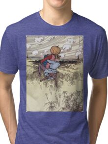 John R. Neill - The Scarecrow And Jack Pumpkinhead Riding The Saw-Horse. Child portrait: cute baby, kid, children, pretty angel, kids, lovely family, boys and girls, boy and girl, mom, childhood Tri-blend T-Shirt
