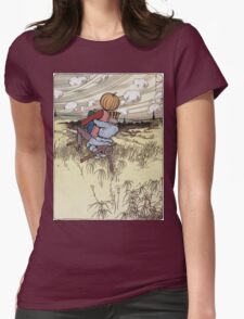 John R. Neill - The Scarecrow And Jack Pumpkinhead Riding The Saw-Horse. Child portrait: cute baby, kid, children, pretty angel, kids, lovely family, boys and girls, boy and girl, mom, childhood Womens Fitted T-Shirt