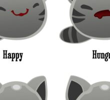 Tabby Slime Expression Chart Sticker