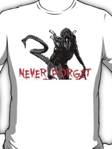 "NEW* ALIEN: ISOLATION MERCHANDISE... ""NEVER FORGET YEAR 2137"" T-Shirt"