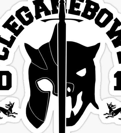 Cleganebowl [College Style] Sticker