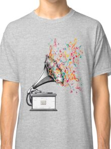 Music for my ears retro style Classic T-Shirt