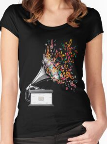 Music for my ears retro style Women's Fitted Scoop T-Shirt