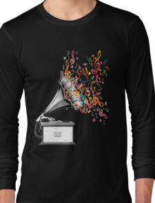 Music for my ears retro style Long Sleeve T-Shirt