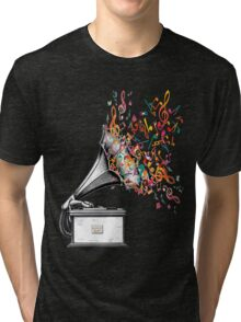 Music for my ears retro style Tri-blend T-Shirt