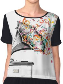 Music for my ears retro style Chiffon Top