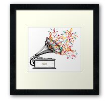 Music for my ears retro style Framed Print
