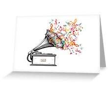 Music for my ears retro style Greeting Card