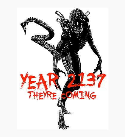 """NEW* ALIEN: ISOLATION MERCHANDISE... """"YEAR 2137 NEVER FORGET"""" Photographic Print"""