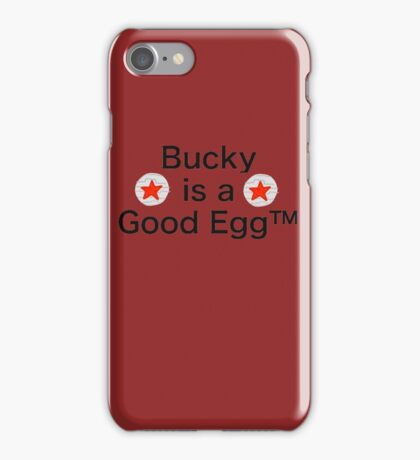 Bucky is a Good Egg iPhone Case/Skin