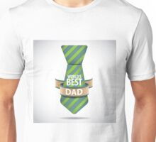 World's Best Dad necktie design. Unisex T-Shirt