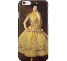 John Singer Sargent - La Carmencita. Dancer painting: dance, ballet, dancing woman, ballerina, tutu, femine, women, dancer, disco, dancers, girls iPhone Case/Skin