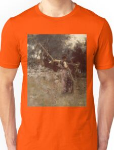 John Singer Sargent - A Capriote 1878. Woman portrait: sensual woman, girly art, female style, pretty women, femine, beautiful dress, cute, creativity, love, sexy lady, erotic pose Unisex T-Shirt