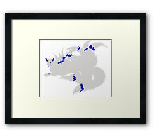 Electrified Kitsune Prince Simplistic Framed Print