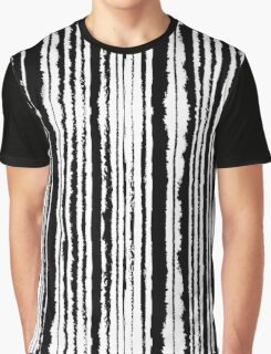 Vertical Brush Stripe Graphic T-Shirt