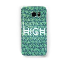 HIGH TYPO! Cannabis / Hemp / 420 / Marijuana  - Pattern Samsung Galaxy Case/Skin