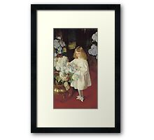 John Singer Sargent - Helen 1895. Child portrait: cute baby, kid, children, pretty angel, child, kids, lovely family, boys and girls, boy and girl, mom mum mammy mam, childhood Framed Print
