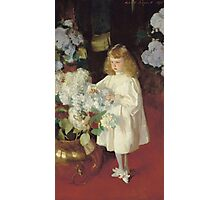 John Singer Sargent - Helen 1895. Child portrait: cute baby, kid, children, pretty angel, child, kids, lovely family, boys and girls, boy and girl, mom mum mammy mam, childhood Photographic Print