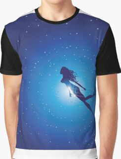 Swimming Woman silhouette Graphic T-Shirt