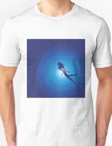 Swimming Woman silhouette Unisex T-Shirt