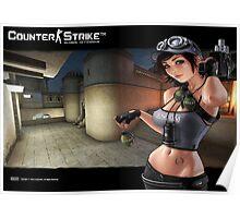 CS:GO Dust 2 CT Girl (Poster x3 Sizes) Poster