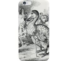 John Tenniel - Alice Meets The Dodo, Illustration From  Alice S Adventures In Wonderland . Bird painting: cute fowl, fly, wings, lucky, pets, wild life, animal, birds, little small, bird, nature iPhone Case/Skin