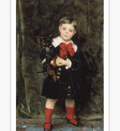 John Singer Sargent - Robert 1879. Child portrait: cute baby, kid, children, pretty angel, child, kids, lovely family, boys and girls, boy and girl, mom mum mammy mam, childhood Sticker