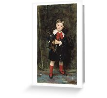 John Singer Sargent - Robert 1879. Child portrait: cute baby, kid, children, pretty angel, child, kids, lovely family, boys and girls, boy and girl, mom mum mammy mam, childhood Greeting Card