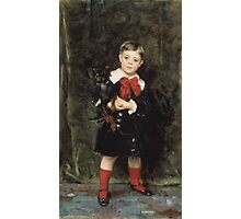 John Singer Sargent - Robert 1879. Child portrait: cute baby, kid, children, pretty angel, child, kids, lovely family, boys and girls, boy and girl, mom mum mammy mam, childhood Photographic Print