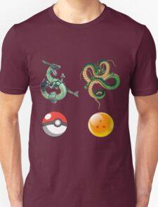 Rayquaza    vs      shenron Unisex T-Shirt