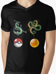 Rayquaza    vs      shenron Mens V-Neck T-Shirt