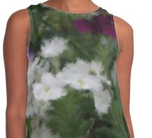 Purple And White Verbena Flowers Contrast Tank