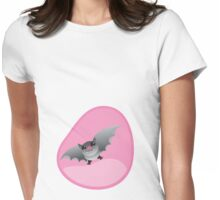 Ladies womb pregnancy shirt with a bat Womens Fitted T-Shirt