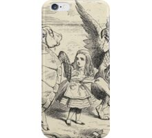 John Tenniel - Alice With The Gryphon And The Mock Turtle, From  Alice S Adventures In Wonderland. Bird painting: cute fowl, fly, wings, lucky, wild life, animal, birds, little small, bird, nature iPhone Case/Skin