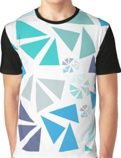Abstract Fireworks - Blue Graphic T-Shirt